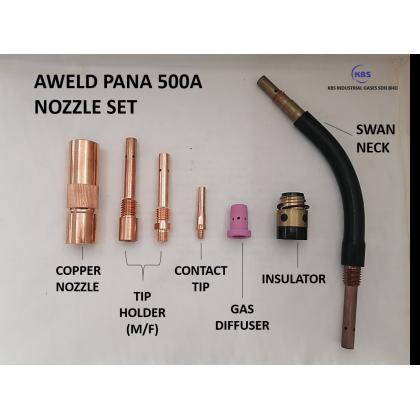PANA 500 NOZZLE SET FOR MIG CO2